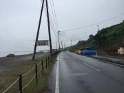 海沿いにあるキャンプ場は雨のため?閑散