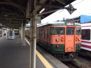 直江津駅から乗車した快速