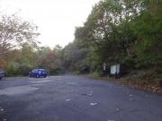 松川温泉登山口の駐車場
