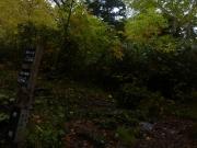 登山開始1時間で出会った水場