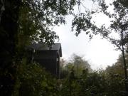 大白森山荘に到着したら木道でズッコケた。
