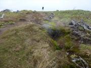 姥倉山への登山道途中にある噴気孔