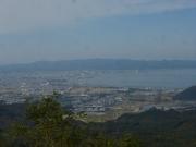 途中休憩展望所から青森市街地を眺望