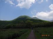 登山口から三俣山