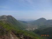 白口岳山頂から坊がツル