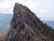 石鎚山(天狗岳)への岩場