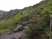 七合目から山頂へ続く稜線