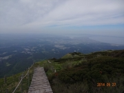 大山から日本海を望む