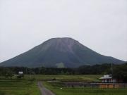 西麓から見た大山