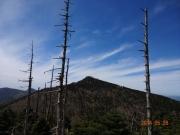 弥山から眺める八経ヶ岳