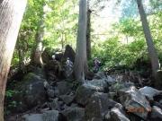 割と急な岩場登り