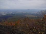 中腹から溶岩流の大地と姫神山眺望