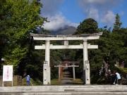 岩木山神社から展望する山頂