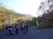 好天の河原坊登山口から出発