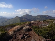 高田大岳から小岳、八甲田大岳眺望