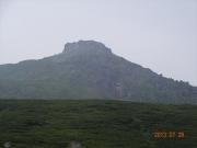下山時に視界回復した羅臼岳