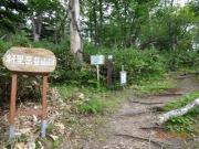 清岳荘登山口から出発