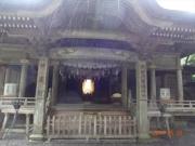 雨の天岩戸神社から光