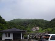 駐車場から望む山頂方向