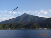 船上から眺める利尻岳