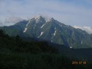 枝折峠付近から見る越後駒ヶ岳