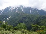下山路で眺めた越後駒ヶ岳