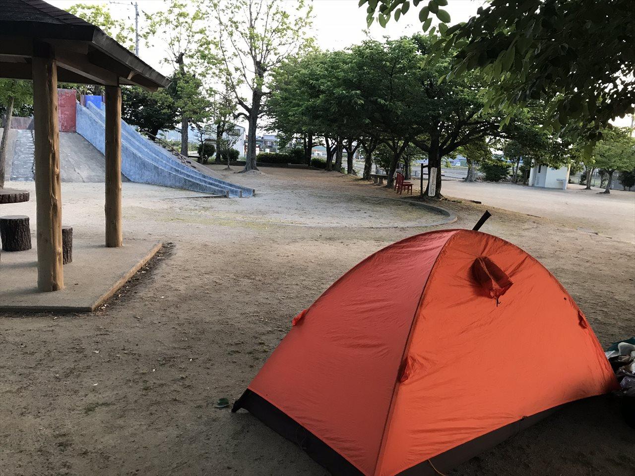 三芳公園野宿